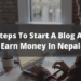 how to start a blog and earn money in nepal