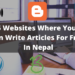 free websites to write and share articles for free in Nepal